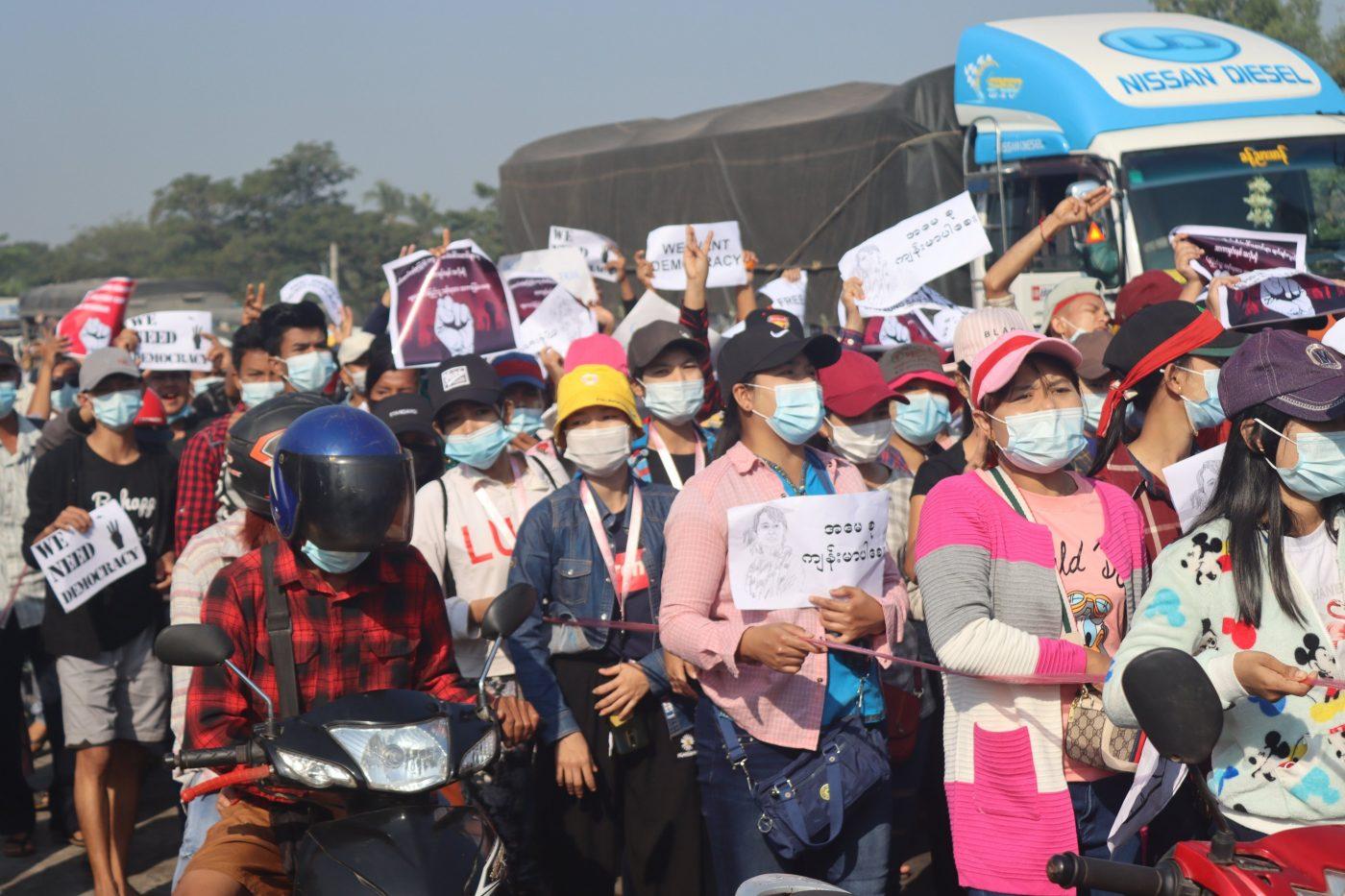 Solidarité avec les travailleur·euses du Myanmar